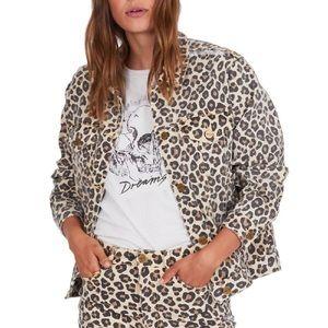 AMUSE Society Isabela Leopard Print Jacket